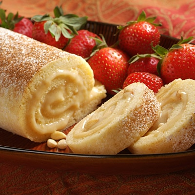 Lemon Custard-Filled Cake Roll