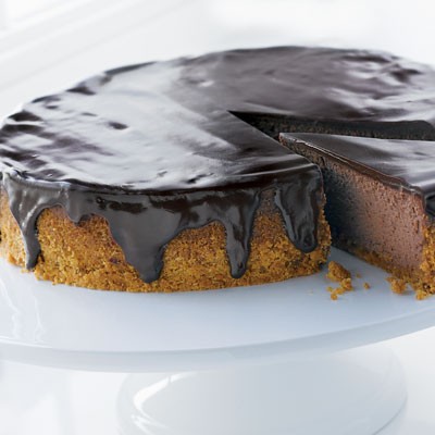 Doubly Decadent Dark Chocolate Cheesecake