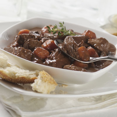 Beef & Stout Stew with Dark Chocolate Sauce