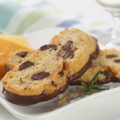 Savory Chocolate-Rosemary Biscotti