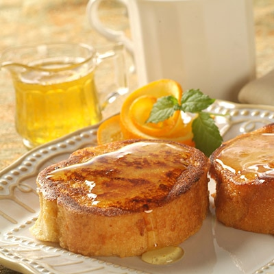 Cinnamon Breakfast Toast with Orange-Rum Syrup