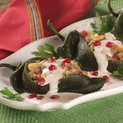 Chiles with Walnut Sauce