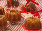 Mini Pumpkin Pecan Orange Soaked Cakes