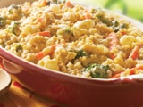 Curry Brown Rice Bake with Vegetables