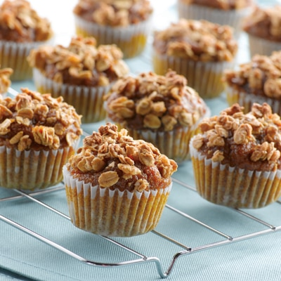 """3 for 100"" Mini Pumpkin Muffins"