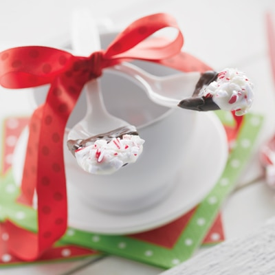 Dipped Peppermint Spoons