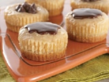 Peanut Butter & Chocolate Mini Cheesecakes