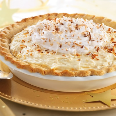 """Toasted"" Coconut Custard Pie"