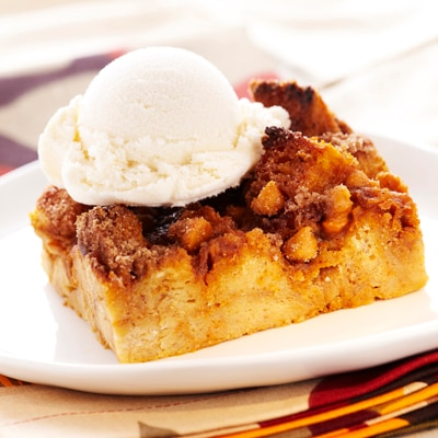 Pumpkin Butterscotch Bread Pudding Recipe | Meals.com