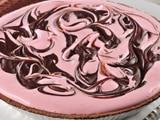 Chocolate Swirled Pink Peppermint Pie