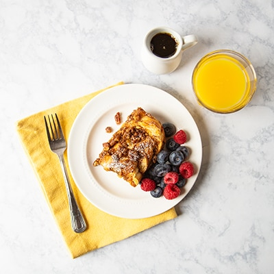 Overnight Whole-Wheat French Toast with Praline Topping