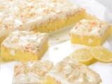 Coconut Frosted Lemon Brownie Delight