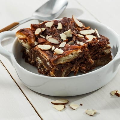 Dark Chocolate Amaretto Bread Pudding