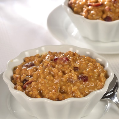Baked Spiced Pumpkin Steel-Cut Oatmeal