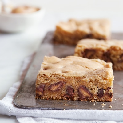 """Blondie"" Bars with Peanut Butter Filled DelightFulls™"