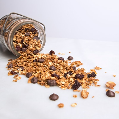 Dark Chocolate-Cherry Granola