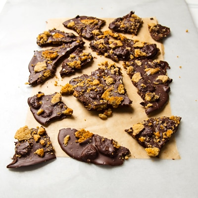Dark Chocolate Cookie Bark