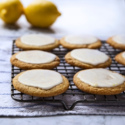 Lemon-Glazed Ginger Cookies