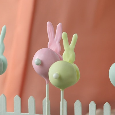 Bunny Bottom Cookie Pops