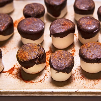 Spicy Dark Chocolate Marshmallows