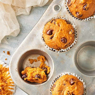 Chocolate Chip Pumpkin Spice Muffins