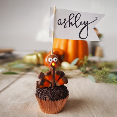 Turkey Brownie Place Cards