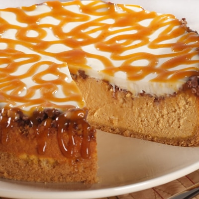 Pumpkin Toffee Cheesecake