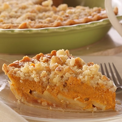 Pumpkin Dutch Apple Pie