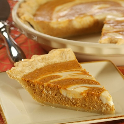 Pumpkin Cheese-Swirled Pie