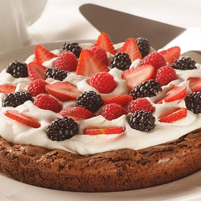 Summer Berry Brownie Torte