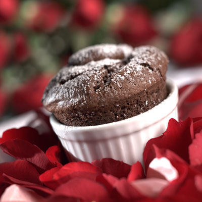 Hidden Treasure Chocolate Souffles