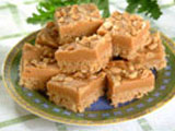 Crispy Peanut Butterscotch Fudge Squares