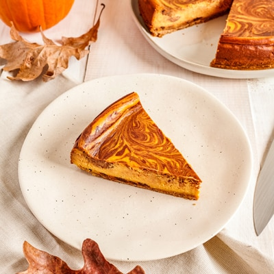 Marbled Pumpkin Cheesecake Recipe | Meals.com