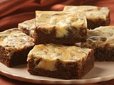 Fudgy Cheesecake Swirl Brownies