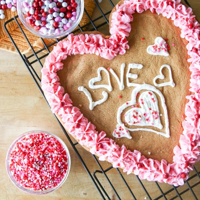 Big Valentine Cookie