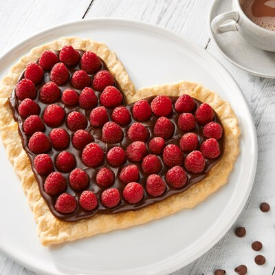 Raspberry Chocolate Heart Tart